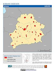 Map: Urban Extents: Belarus