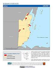 Map: Urban Extents: Belize