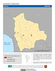 Map: Urban Extents: Bolivia