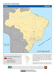 Map: Urban Extents: Brazil