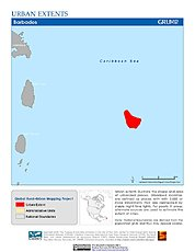 Map: Urban Extents: Barbados