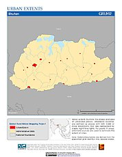 Map: Urban Extents: Bhutan