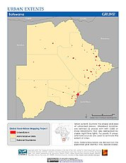 Map: Urban Extents: Botswana