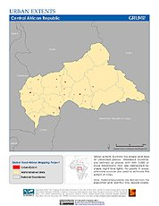 Map: Urban Extents: Central African Republic