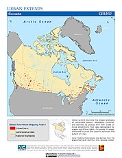 Map: Urban Extents: Canada