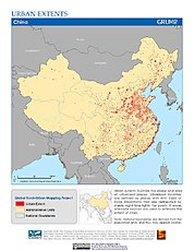 Map: Urban Extents: China