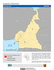 Map: Urban Extents: Cameroon