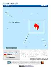 Map: Urban Extents: Cook Islands