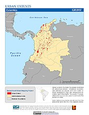 Map: Urban Extents: Colombia