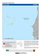 Map: Urban Extents: Cape Verde