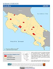 Map: Urban Extents: Costa Rica