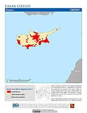 Map: Urban Extents: Cyprus