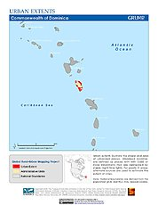 Map: Urban Extents: Dominica