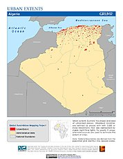 Map: Urban Extents:  Algeria