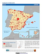 Map: Urban Extents: Spain