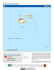 Map: Urban Extents: Fiji