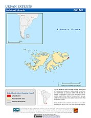 Map: Urban Extents: Falkland Islands