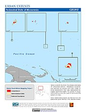 Map: Urban Extents: Micronesia