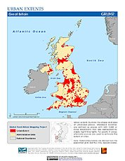 Map: Urban Extents: United Kingdom