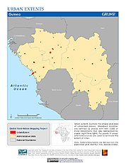Map: Urban Extents: Guinea