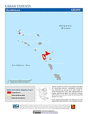 Map: Urban Extents: Guadeloupe