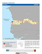 Map: Urban Extents: Gambia