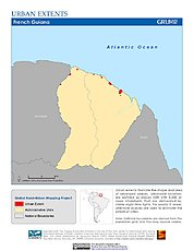 Map: Urban Extents: French Guiana