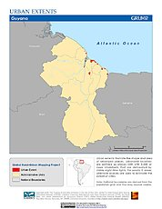 Map: Urban Extents: Guyana
