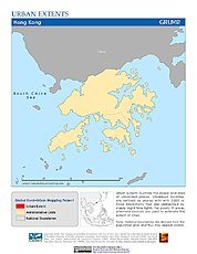 Map: Urban Extents: Hong Kong