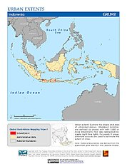 Map: Urban Extents: Indonesia