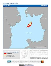 Map: Urban Extents: Isle of Man