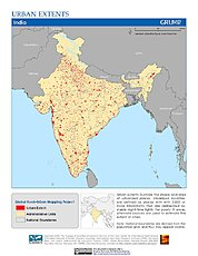Map: Urban Extents: India