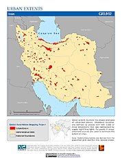 Map: Urban Extents: Iran
