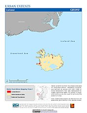 Map: Urban Extents: Iceland