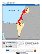 Map: Urban Extents: Israel