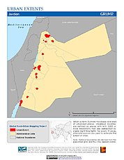 Map: Urban Extents: Jordan
