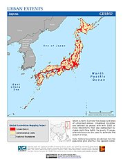 Map: Urban Extents: Japan