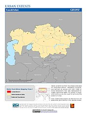 Map: Urban Extents: Kazakhstan
