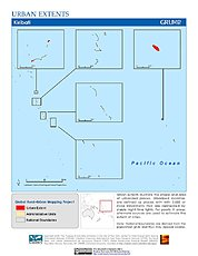Map: Urban Extents: Kiribati