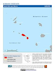 Map: Urban Extents: St. Kitts & Nevis