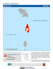 Map: Urban Extents: St. Lucia