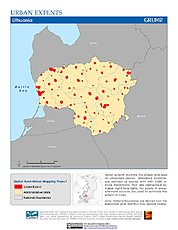 Map: Urban Extents: Lithuania