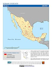 Map: Urban Extents: Mexico