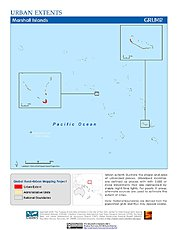 Map: Urban Extents: Marshall Islands