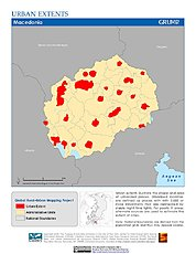 Map: Urban Extents: Macedonia