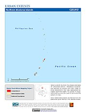 Map: Urban Extents: Northern Mariana Islands