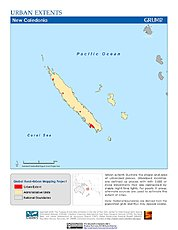 Map: Urban Extents: New Caledonia
