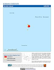 Map: Urban Extents: Norfolk Island