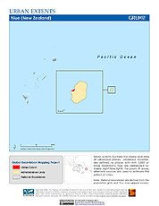 Map: Urban Extents: Niue