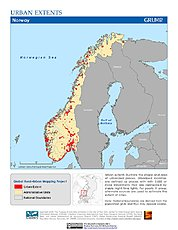 Map: Urban Extents: Norway